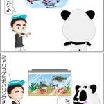 ミドリフグの飼育方法「2コマ漫画」